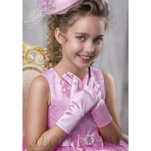 Перчатки розовые на девочку Лайкра