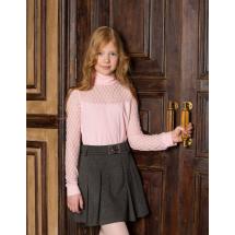 """Водолазка с кружевом для девочек розового цвета """"Люси"""""""