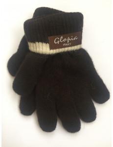 Перчатки зимние темно-коричневого цвета Glopia