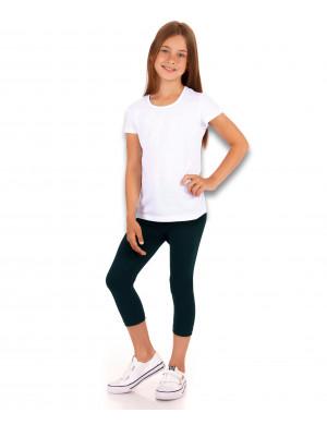 Комплект для девочек синего цвета для физкультуры (бриджи + футболка)